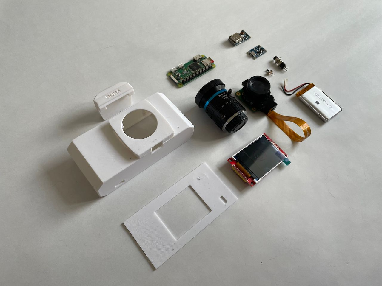 The RUHAcam is an open-source, 3D-printed Linux camera based on Raspberry Pi