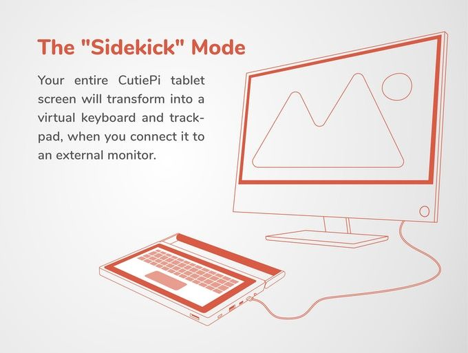"New CutiePi Shell ""Sidekick"" mode brings Linux convergence to the next level"